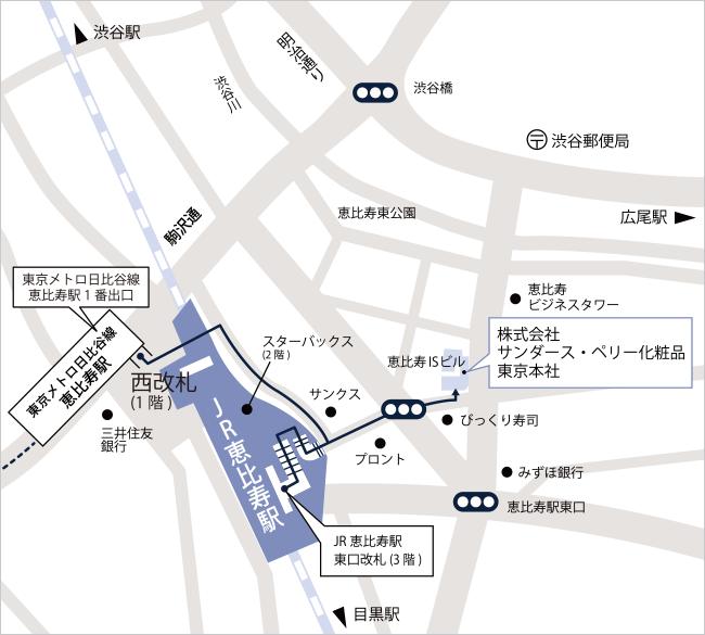 東京本社のマップ