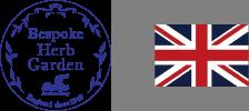 ビスポークハーブガーデンロゴとイギリス国旗