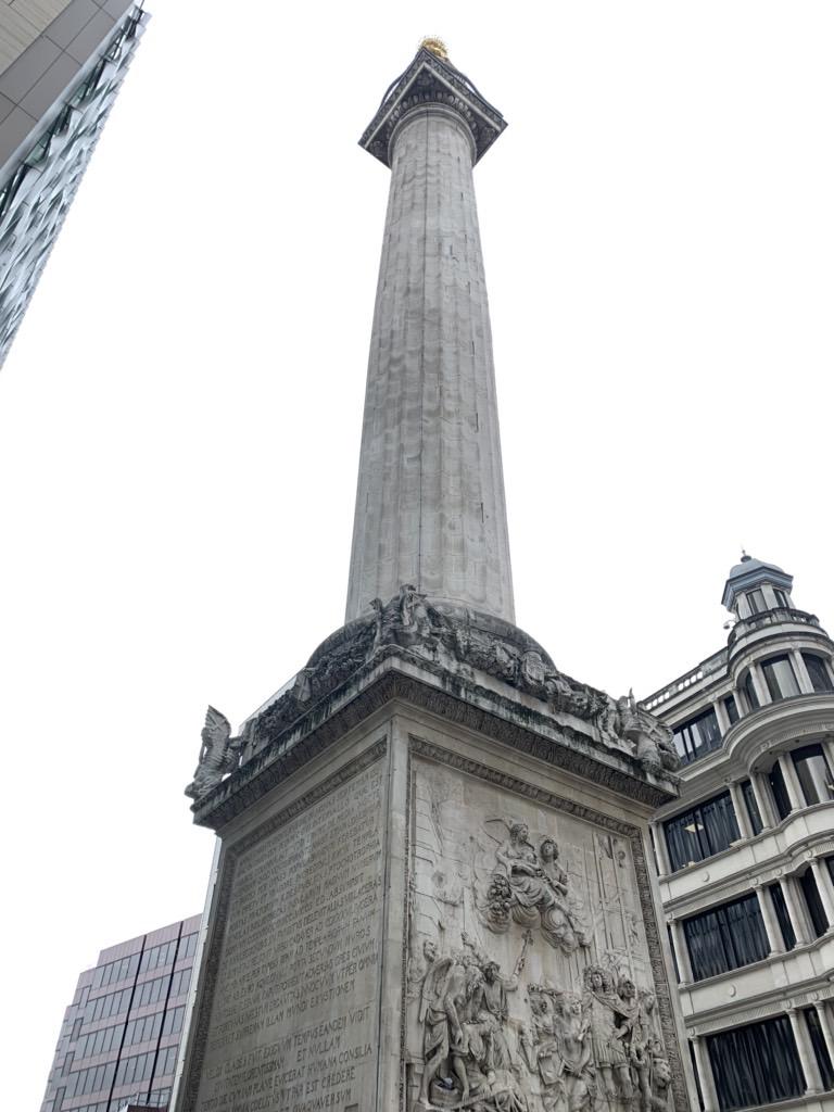 ロンドン大火とその後の復興    The MONUMENT-Great Fire of London 1666